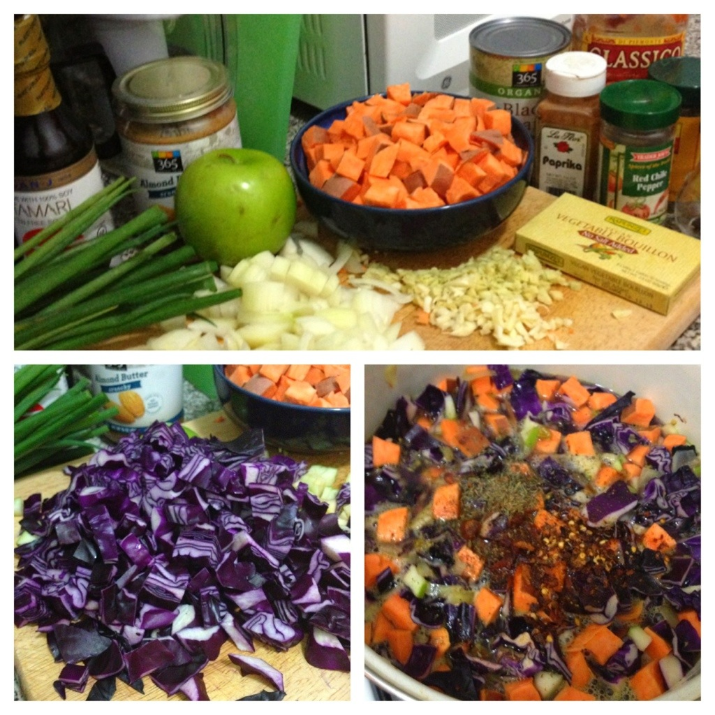 Sweet Potato, Cabbage, and Black Bean Soup with Almond ...