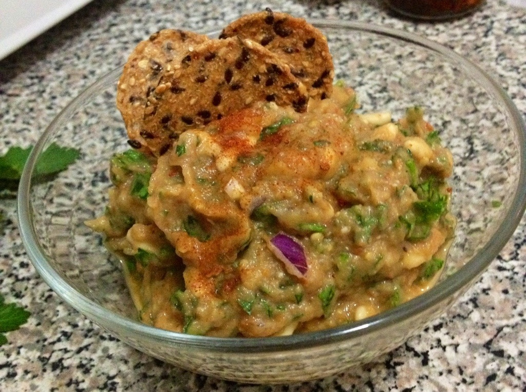 Roasted Eggplant Dip with Sun Dried Tomatoes | Chameleon ...